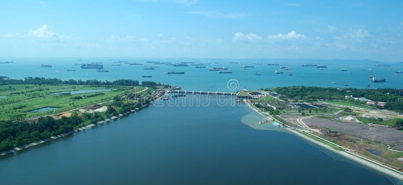 Port de Singapour de l'air photo libre de droits