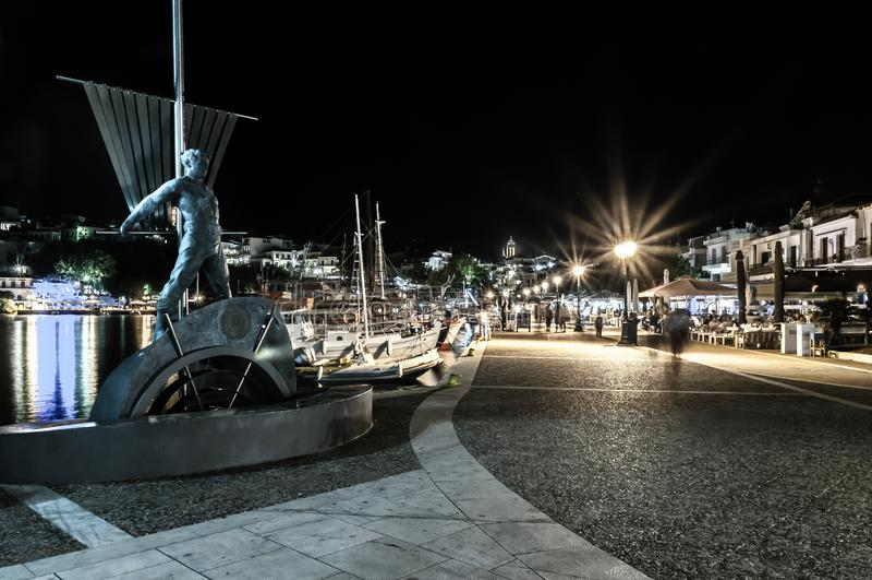 Port de Skiathos par photo stock