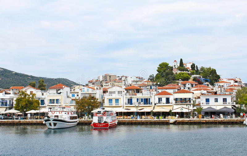 Port de Skiatos Grèce 15 photo stock