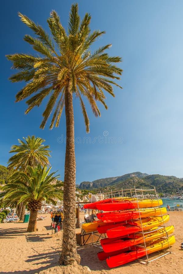 port de Soller海滩 免版税图库摄影