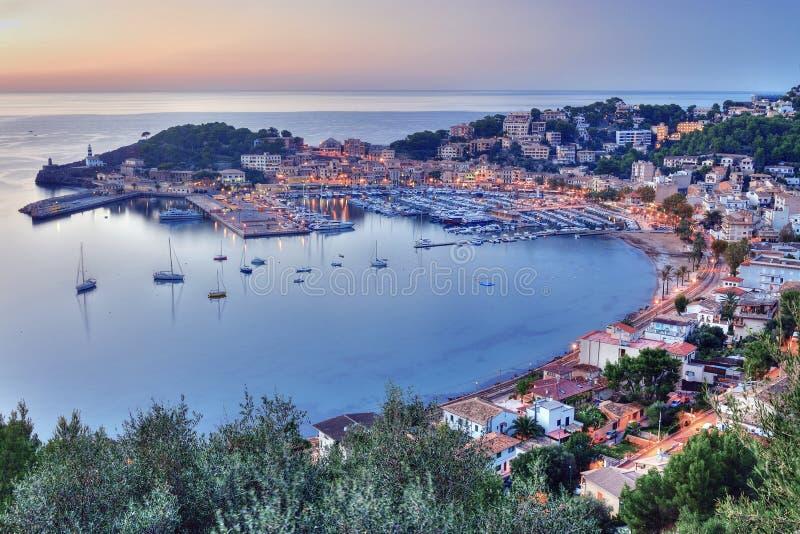 Download Port de Soller stock photo. Image of harbor, beach, puerto - 25331810