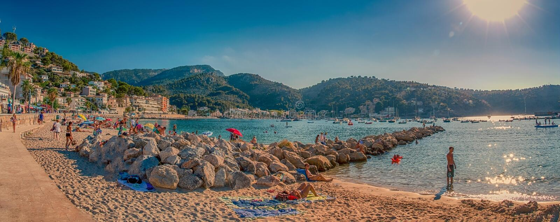 Port de soller Majorca photo stock