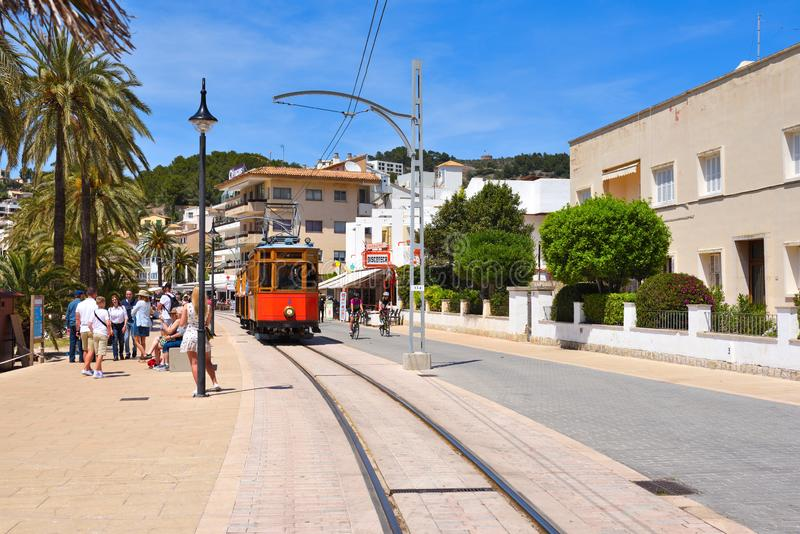 Port de Soller, one of Majorca`s most interesting tourist attractions royalty free stock photo