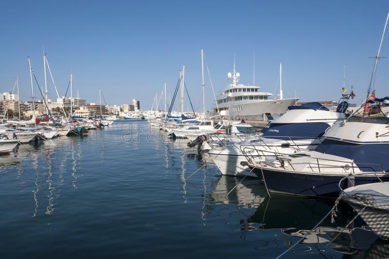 Port de sport de Santa Pola images stock