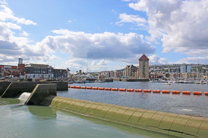 Port de Swansea, Pays de Galles image libre de droits