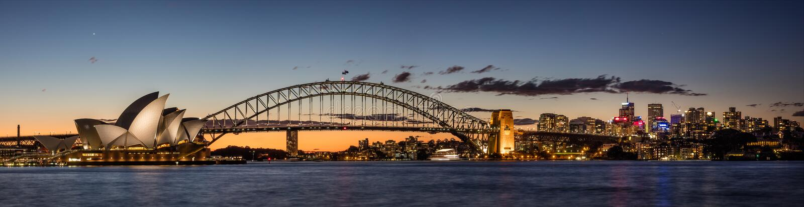 Port de Sydney au crépuscule, Sydney NSW, Australie photo stock