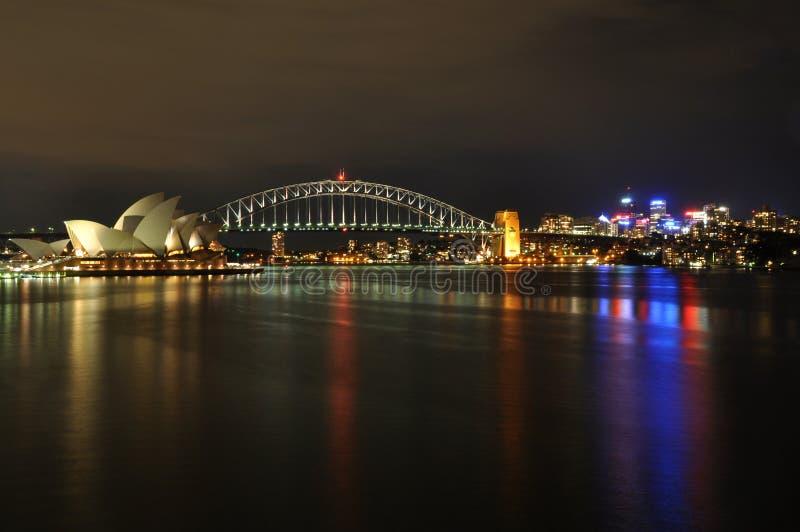 Port de Sydney la nuit photo libre de droits