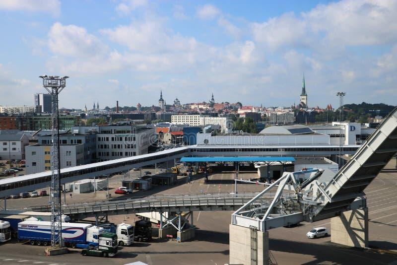 Port de Tallinn, Estonie photographie stock