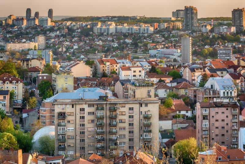Port de touristes de Belgrade sur Sava River With Kalemegdan Fortress et photo libre de droits
