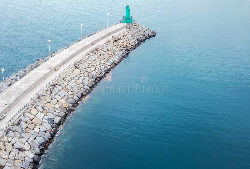 Port de touristes des Imperia en Ligurie images libres de droits