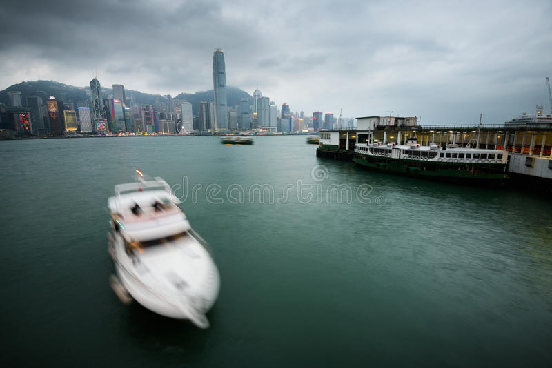 Port de Victoria, Hong Kong images stock
