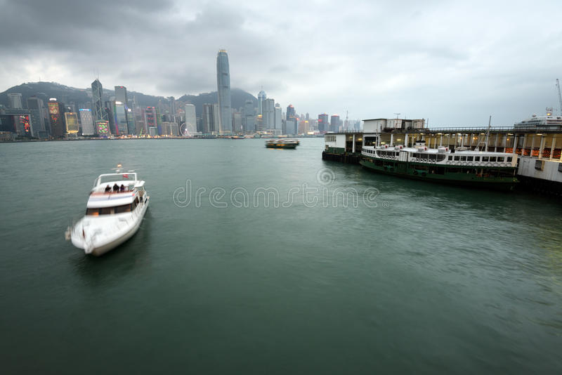 Port de Victoria, Hong Kong images libres de droits