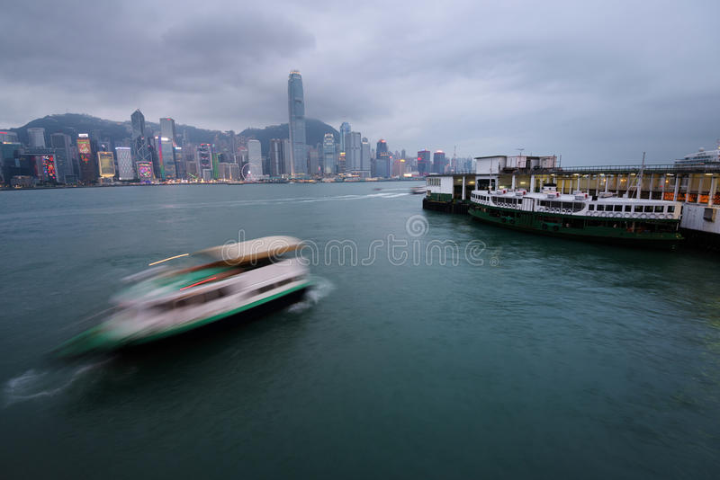 Port de Victoria, Hong Kong image stock