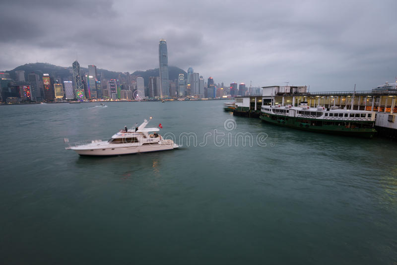 Port de Victoria, Hong Kong photos stock
