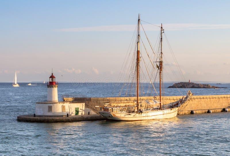 Port de ville d'Ibiza, Espagne photographie stock libre de droits