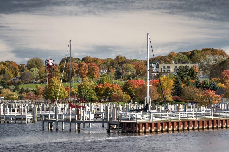 Port de ville de Petoskey photographie stock