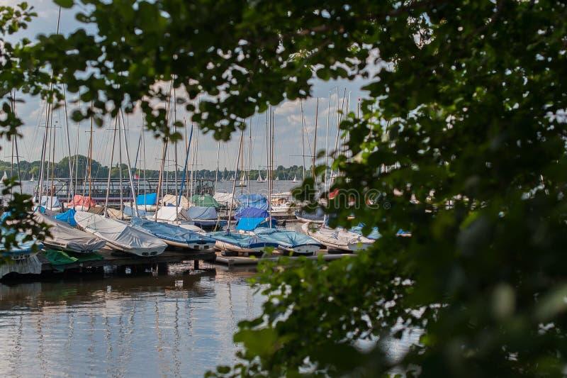 Port de voilier photographie stock