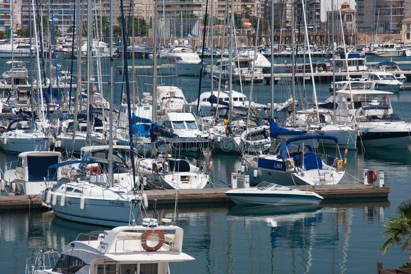 Port de voiliers photo stock