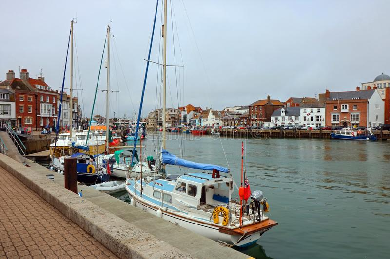 Port de Weymouth Dorset, Royaume-Uni photographie stock libre de droits