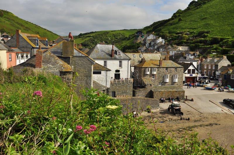 Port den Isaac byn, Cornwall, England, UK royaltyfri fotografi