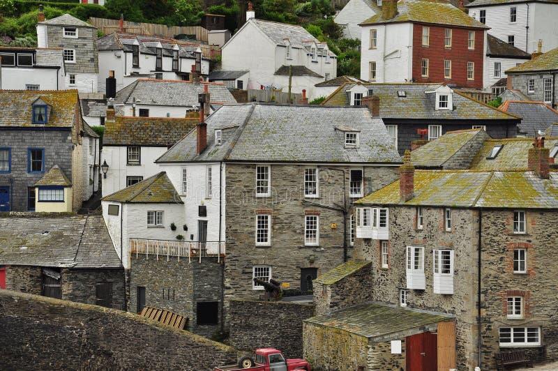 Port den Isaac byn, Cornwall, England, UK fotografering för bildbyråer