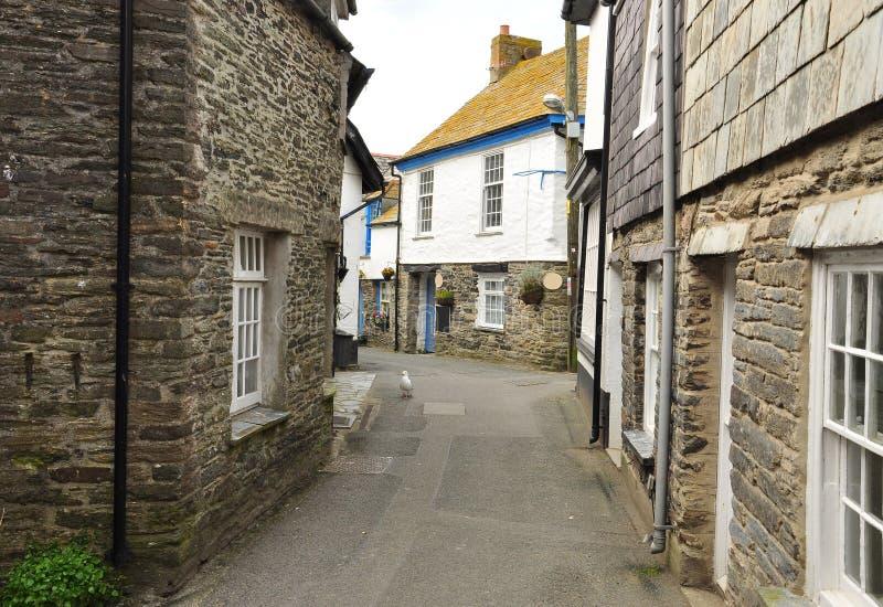 Port den Isaac byn, Cornwall, England, UK royaltyfri bild