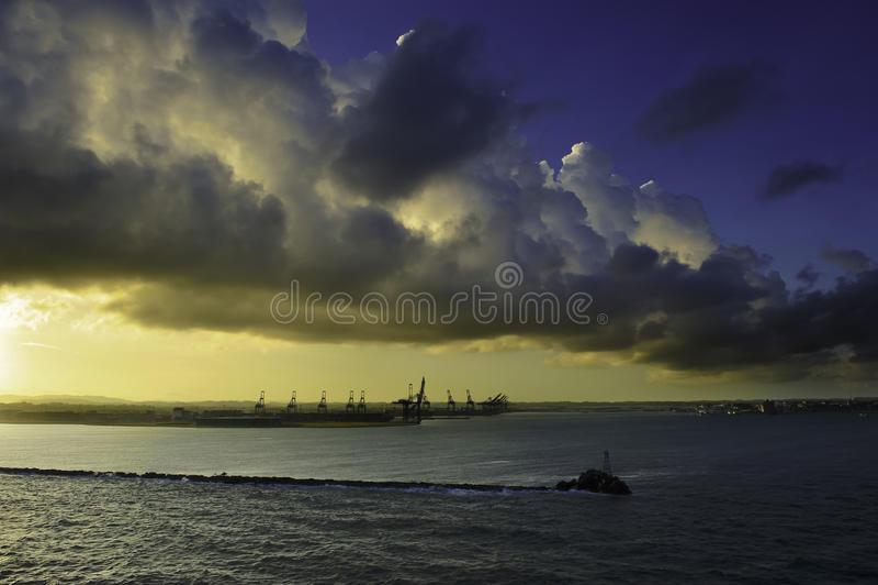 Port des deux points Panama images libres de droits
