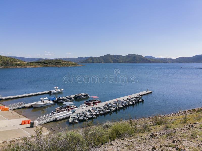 Port Diamentowy Dolinny jezioro fotografia royalty free
