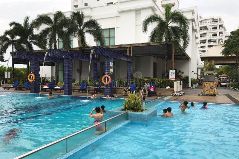 PORT DICKSON, MALAYSIA. 19 DECEMBER 2016. Grand Lexis hotel. Swimming pool in Port Dickson, Malaysia royalty free stock image