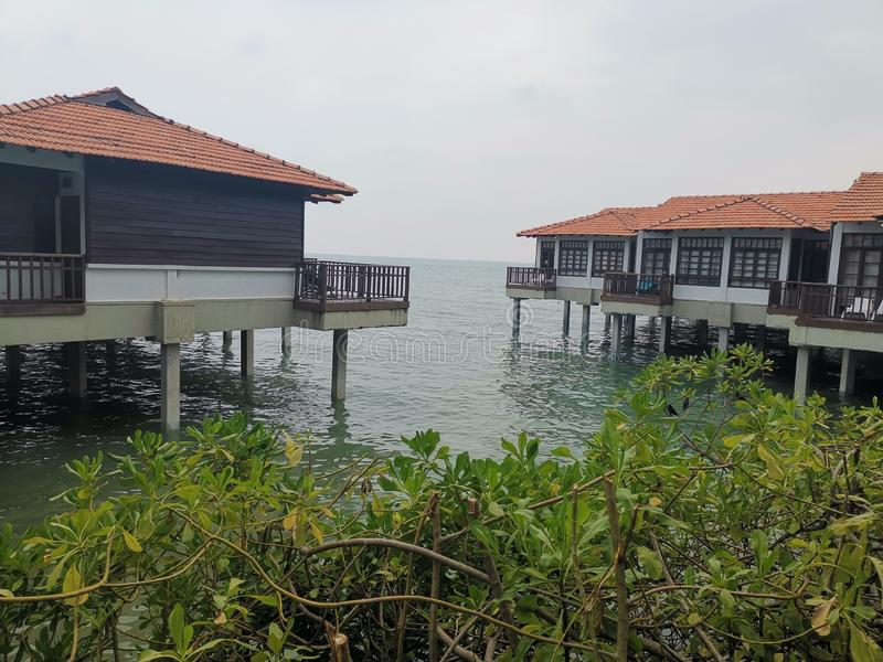 Beaches at Port Dickson. Port Dickson is a small town in Malaysia with beautiful beaches stock image
