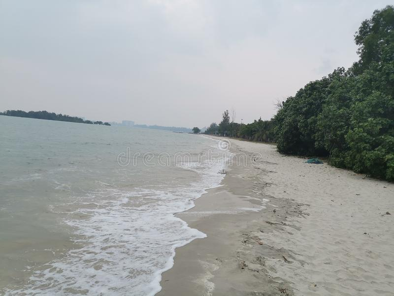 Beaches at Port Dickson. Port Dickson is a small town in Malaysia with beautiful beaches royalty free stock photography