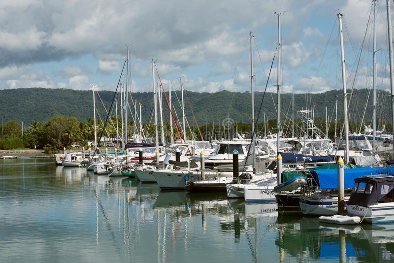 Port Douglas Marina image libre de droits