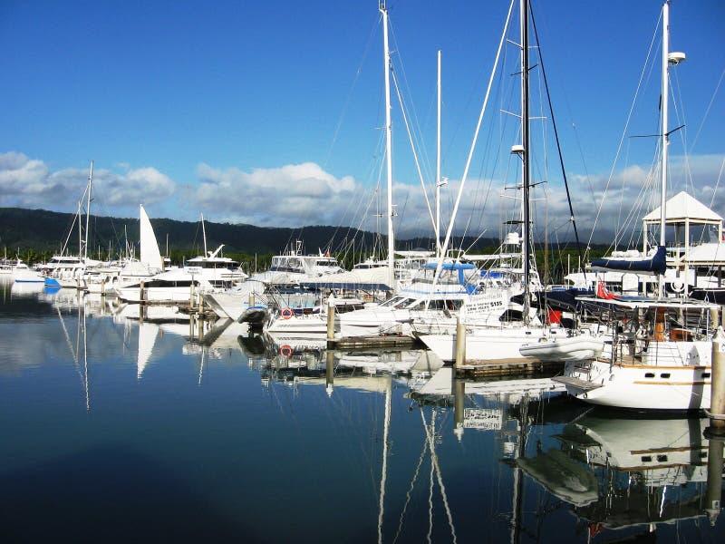Port Douglas Marina Queensland Australia arkivbild