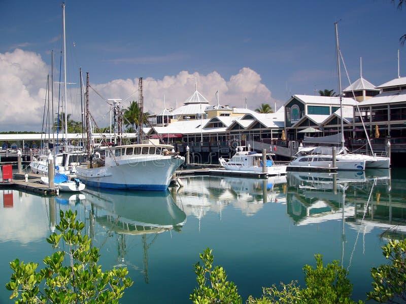 Port Douglas - porta ao grande recife de barreira imagem de stock royalty free
