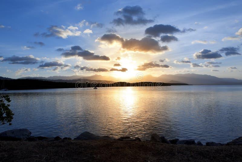 Port Douglas Queensland Sunset obraz stock