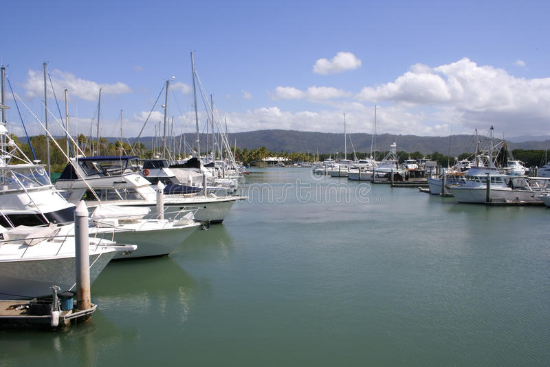 Port- Douglasjachthafen, Queensland, Australien lizenzfreie stockfotografie