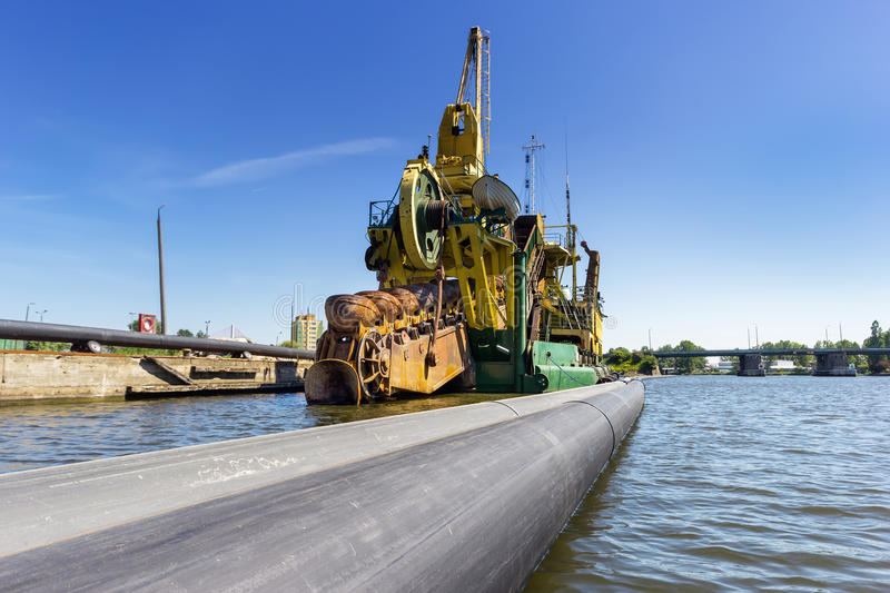 Port Dredging Stock Photo