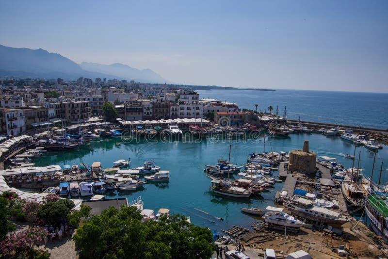 Port du nord de la Chypre image libre de droits