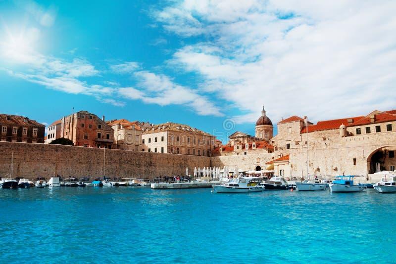 Port of Dubrovnik royalty free stock photos