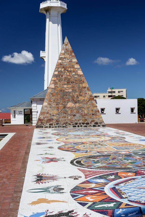 Port Elizabeth灯塔金字塔 库存照片