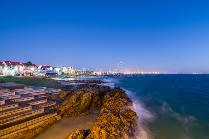 Port Elizabeth-Meerblick Südafrika stockbild