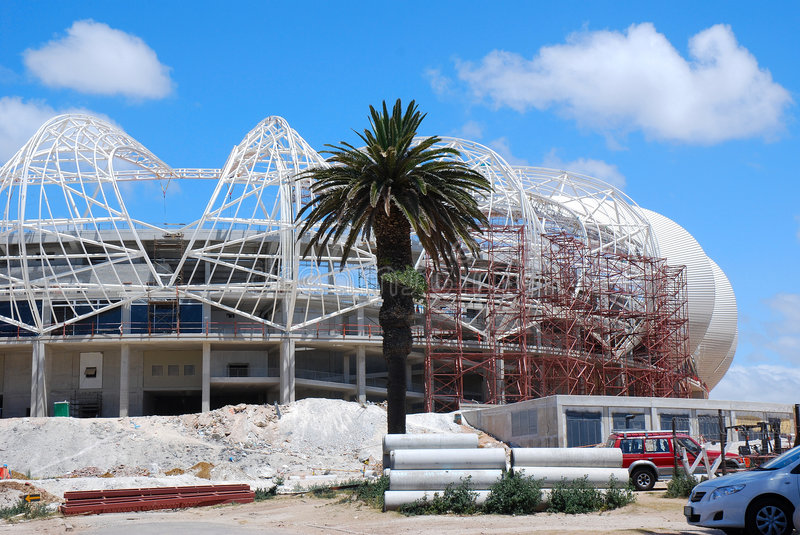 Port Elizabeth stadium - soccer world cup 2010 royalty free stock image