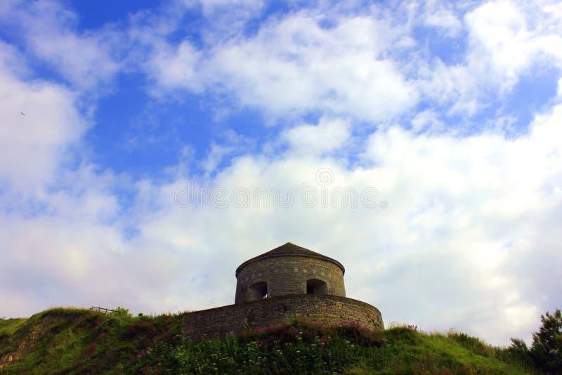 Port en-bessinen i Normandie ett historiskt ställe arkivfoto