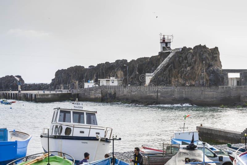 Port en Camara de Lobos images libres de droits