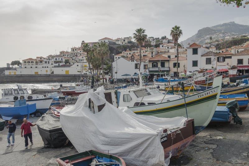 Port en Camara de Lobos photos stock