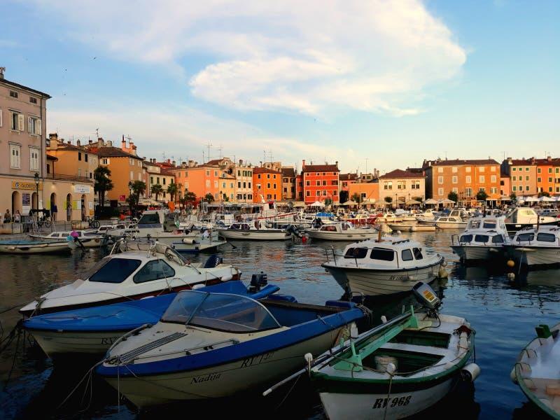 Port en Croatie images libres de droits