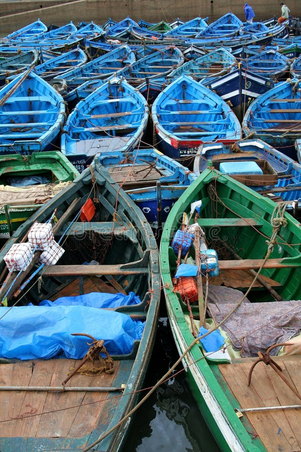 Port in Essaouira #4. View at the fishing boats from port in Essaouira royalty free stock image