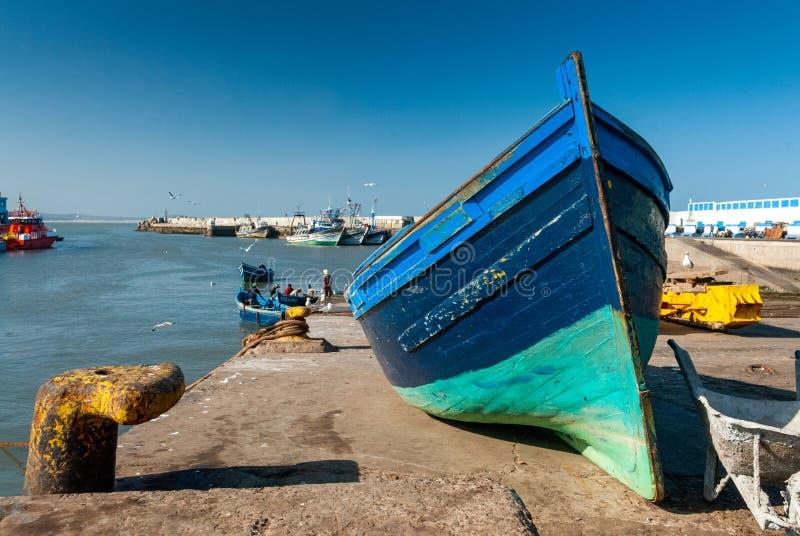 In the port of Essaouira stock photo