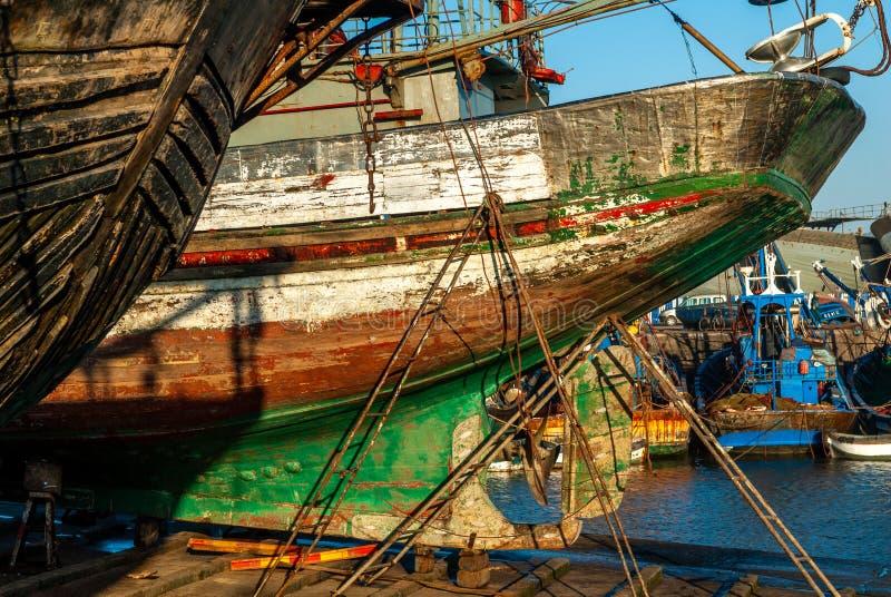 In the port of Essaouira stock photos