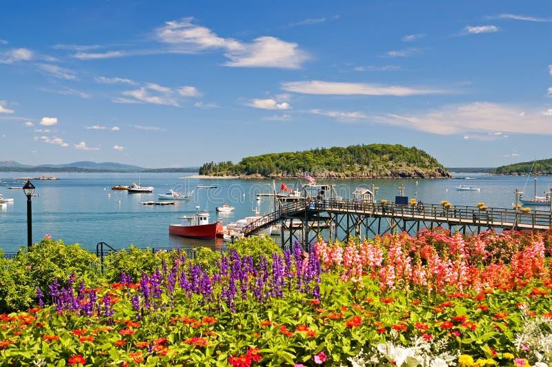 Port et quai côtiers du Maine images stock